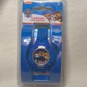 Paw Patrol kids children's flashing LCD watch